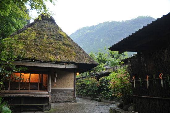 actual old Japanese-style cottages