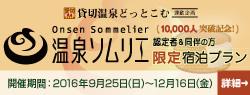 温泉ソムリエ1万人突破記念 限定宿泊プラン(特典)